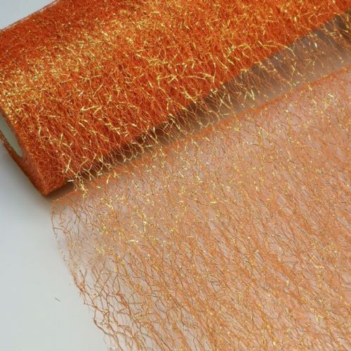 Orange Spider Metallic Tulle  | S